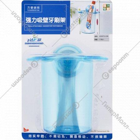 Стакан для зубных щеток пластмассовый на присоске, 12 х 8.5 х 11 см.
