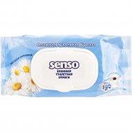 Влажная туалетная бумага «Senso» экстракт ромашки, 100 шт.