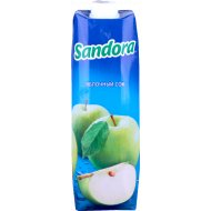 Сок «Сандора» яблочный из зеленого яблока 1 л.
