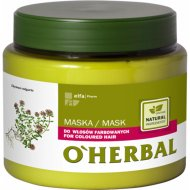 Маска для окрашенных волос с экстрактом чабреца «O'HERBAL» 500 мл.