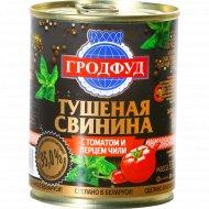 Свинина тушеная «Гродфуд» с томатом и перцем чили, 338 г.
