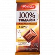 Шоколад молочный «Чаржед» лифтинг, 100 г.