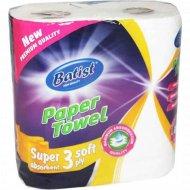 Бумажные полотенца «Batist» трехслойные, 2 рулона
