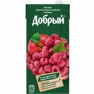 Нектар «Добрый» из яблок, черноплодной рябины и малины, 2 л.