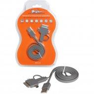 Зарядный универсальный датакабель 4 в 1 miniUSB, microUSB для IPhone 4/5/6.