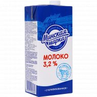 Молоко «Минская марка» стерилизованное, 3.2%, 1 л.