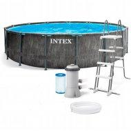Каркасный бассейн «Intex» Greywood Prism Frame Premium, 26744NP