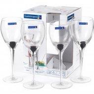 Набор бокалов для вина «Luminarc» Drip black, 4 шт, 270 мл