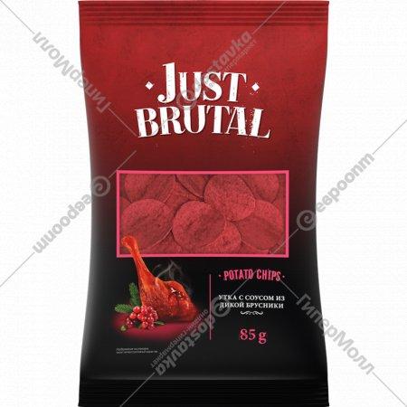 Чипсы «Just Brutal» со вкусом утки с соусом из дикой брусники, 85 г.