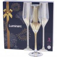 Набор бокалов для шампанского «Luminarc» Celeste Golden, 3 шт, 160 мл