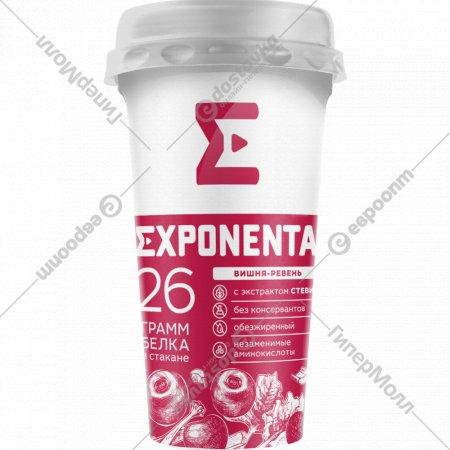 Напиток кисломолочный «Exponenta Activе» вишня и ревень, 250 г.