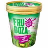 Мороженое «Fru Doza» c кусочками киви и крыжовника, 225 г.