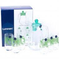 Набор для напитков «Luminarc» Green Rings, 7 предметов