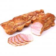 Продукт из свинины «Полоска домашняя» копчено-вареный 1 кг., фасовка 0.2-0.3 кг
