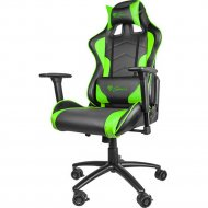Кресло компьютерное nitro «Genesis» NFG-0909 Gaming Black-Green.