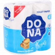 Бумага туалетная «Dona» двухслойная, 4 рулона