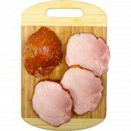 Продукт из свинины мясной копчено-вареный