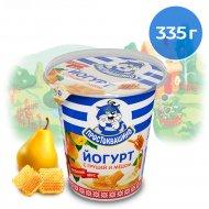 Йогурт «Простоквашино» с наполнителем груша-мед, 2.5%, 335 г.