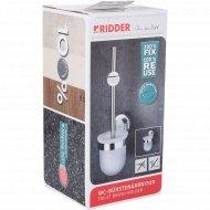 Щетка для wc пластмасса/металл с держателем на присоске.