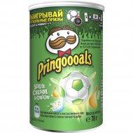 Чипсы «Pringles» со вкусом сметаны и лука, 70 г.