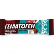 Гематоген экстра кокосовый, 40 г.
