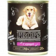 Корм мясной для собак «Props» с курицей, 338 г.