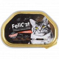 Корм консервированный «Felicat» для кошек с говядиной, 95 г.