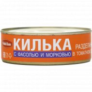 Килька «РыбаХит» с фасолью и морковью, 240 г.