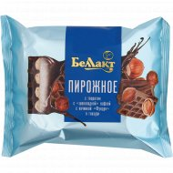 Пирожное «Беллакт» творог, шоколадная вафля и фундук, 23 %, 100 г.