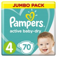 Подгузники «Pampers» Active Baby Dry, размер 4, 9-14 кг, 70 шт