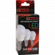 Лампа светодиодная «Ultra» LED теплый цвет, 5 Вт.