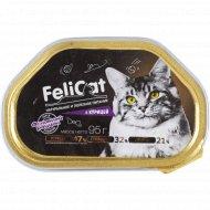 Корм консервированный «Fellcat» для кошек с курицей, 95 г.