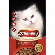 Корм влажный «Chammy» для кошек, говядина в соусе, 100 г.