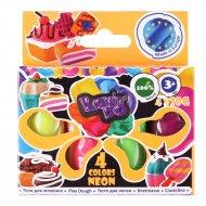Набор теста «Неон» для лепки, 41028, 4 цвета.