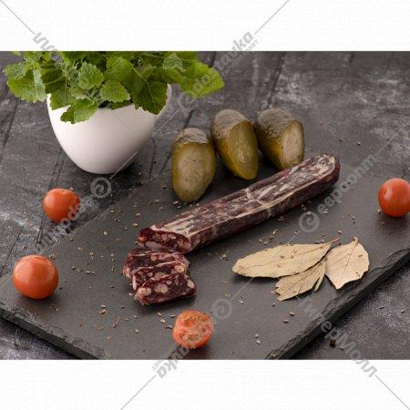 Колбаса вяленая из мяса лося с кедровым орехом 100 г.