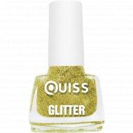 Лак для ногтей «Quiss» Glitter тон 02, 6 мл.