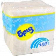 Салфетки бумажные «Бриз» белые, 24x24 см, 100 шт.
