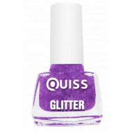 Лак для ногтей «Quiss» Glitter, тон 03, 6 мл.