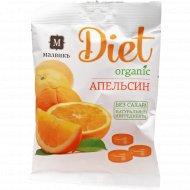 Карамель леденцовая «Малвикъ Diet» апельсин и натуральный сок, 50 г.