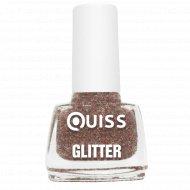 Лак для ногтей «Quiss» Glitter, тон 09, 6 мл.