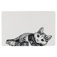Коврик под миску «Trixie Zentangle» с рисунком, 44х28 см