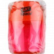 Точилка пластиковая,красная, контейнер, 1 шт.
