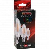 Лампа светодиодная «Ultra» LED Filament теплый свет, 5 Вт.