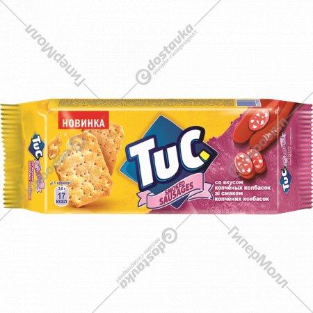 Крекер «Тук» солёный со вкусом копченые колбаски, 100 г.