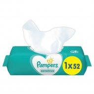 Детские влажные салфетки «Pampers» Sensitive, 52 шт.