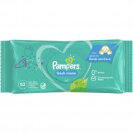 Детские влажные салфетки «Pampers» baby fresh clean, 52 шт.