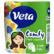 Полотенца бумажные «Veta Comfy» 11.5 м, 2 рулона.