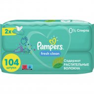 Салфетки увлажняющие детские «Pampers» fresh clean, 2x52 шт.