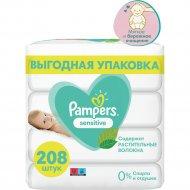 Салфетки влажные детские «Pampers» Sensitive, 4x52 шт.