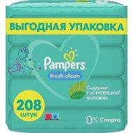 Салфетки увлажняющие детские «Pampers» fresh clean, 4x52 шт.